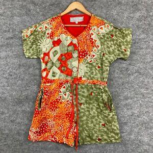 Dorothy Schoelen Womens Playsuit Size 2 Multicoloured Short Sleeve 125.28
