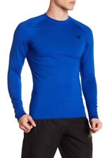 $45 New Balance Aeronamic Fitted Thermal L/S Shirt Men's Sz MEDIUM Training Blue