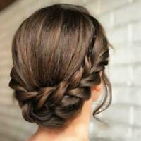 Synthetische Perücke geflochtenes Haarband Elastic Princess Hair Stirnband J5E8