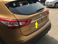 S/Steel Rear tailgate Trunk Chrome Strip Trim molding For Nissan Qashqai 2014+