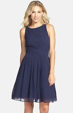 Ted Baker Saphira Tiered Pleat A-Line Dress Sz 3(US 8-10) Retail $348