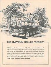 1963?1964 Datsun DeLUXE CEDRIC Brochure / Sheet: USA left hand drive