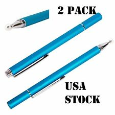2 Pack Fine Point Stylus Touch Pen for Apple iPad Tab, Smartphone Samsung Galaxy