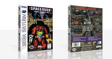 Space HULK Sega Saturn Repuesto Estuche + Caja obras de arte sin juego