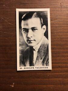 Silent Film Stars Rudolph Valentino 1920 Cigarette Card Strollers
