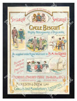 Historic Meredith & Drew Cycle Biscuits, 1890s. Advertising Postcard