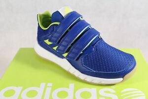 Adidas Sport Scarpe Corsa Scarpe Indoor Forta Palestra Blu/Verde Nuovo