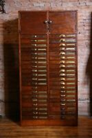 Antique Apothecary Cabinet 40 Drawer wood Printers Typeset Cabinet drafting etc