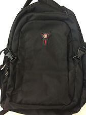 Wenger Black Four Pocket Backpack with Organizer NWOT