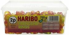 Haribo Retro Jelly Sweets - Friendship Rings - Full Tub - Wedding/Party Bags