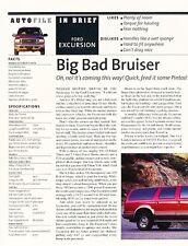 2000 Ford Excursion Original Car Review Print Article J607