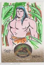 TARZAN 100TH ANNIVERSARY TRADING CARDS 1/1 SKETCH CARD DAN SMITH CRYPTOZOIC