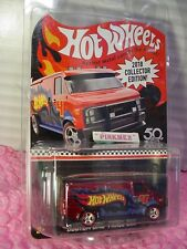 CUSTOM GMC PANEL VAN☆red;redline real riders☆TARGET Mail in ☆2018 Hot Wheels