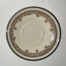 LENOX China LACE POINT Pattern Platinum Trim  SAUCER - EUC
