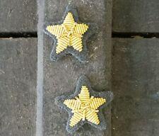 WW2 Rip stellette Ufficiale Regio Esercito ricamata colore oro panno grigioverde