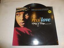 """MARY J BLIGE - Real Love - 1993 UK 4-track 12"""" vinyl single"""