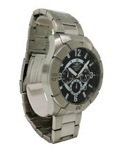 Invicta 1420 Men's Round Black Analog Chronograph Date Stainless Steel Watch