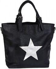 Handtasche mit Stern Cutout und Ziernaht, Schultertasche, glitzer Stern, Damen