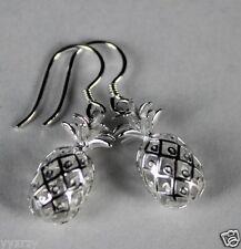 925 Sterling Silver Hawaiian Dangle  Pineapple Fruit Earring Earrings Hook