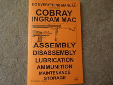 Cobray Ingram Mac 10 .380 9mm .45 Semi Auto or Sub Machine Gun Manual 27 pages