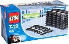 Lego 4520 Curved Train Track 9v 8 Pieces