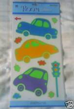 Boys Glow In The Dark Bedroom Wall Stickers ~ Nursery/Playroom ~ Cars/Traffic
