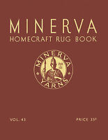 Minerva Color Rug Making #43 c.1935 Vintage Designs And Tips to Make Rugs