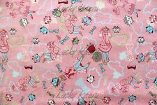 SALE Marie Jacobi Stern Yuwa Trip To Wonderland Pink Japanese Fabric Half Yard