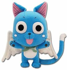 "Brand New GE Animation Fairy Tail Anime Plush - 8"" Happy (GE-6968)"