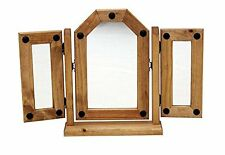 Mercers Furniture® Corona Mexican Pine Triple Dressing Table Mirror