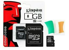 KINGSTON Micro SD SDHC SD Memory Card Class With Adapter 8GB 16 32 64 128 memory