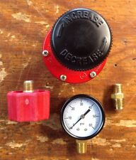 HP, Adjustable Regulator Kit  for Cookers & Smokers. 0-60 Kit Red Qcc