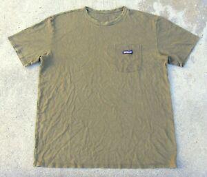 Patagonia Hemp w Organic cotton Pocket  T-Shirt Men's XL Olive