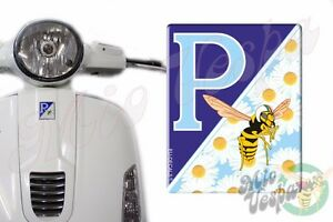 Front Badge Overlay Blue Daisies/MioVespa 3D Decals sticker Vespa Gts Gt ET PX S