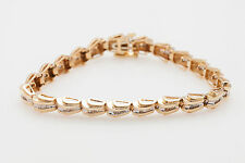 Estate $6000 2ct Baguette Diamond 14k Yellow Gold Tennis Bracelet 14g