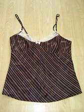 SECRET POSSESSIONS SATIN AND LACE CAMI TOP SIZE 8-10 NIGHTWEAR CAMISOLE PJ