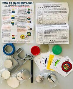 "Badge A Minit 2-1/4"" Pinback Button Badge Maker Kit Hand Press & Supplies New"