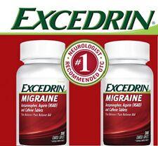 2 300 Caplets Excedrin Migraine Acetaminophen Aspirin Caffeine Pain Reliever Aid