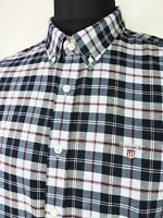 GANT Men's Long Sleeve Plaid Flannel Button Down Collar SLIM Fit Shirt size 2XL