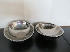 New 2 x Ceramic Colonial Black Base+Silver Bowl Shaped Pillar Candle Holders