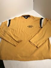 VTG Tommy Hilfiger Spellout Long Sleeve Yellow T-Shirt Men's size XXL 2XL