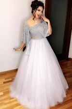 Milky White Net Lehenga Choli Indian Designer Bollywood Lengha Ghagra Sari Saree