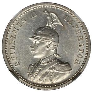 GERMAN EAST AFRICA 1/4 Rupie 1904-A NGC UNC - Looks BU!