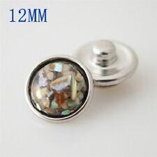 MINI SNAP Resin Chunk Button PETITE JEWELRY Bracelet 12mm Fits Ginger Snaps