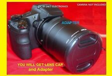 2 PART TUBE ADAPTER+LENS CAP 72mm to  DIGITAL CAMERA NIKON COOLPIX P90 72 mm