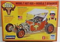 """BULL HORN Model T Hot Rod BIG 1/16 Plastic Model Kit 8"""" Long New & Sealed 2012"""
