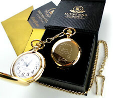 Bob Dylan Signed 24k Gold Plated Pocket Watch Autographed Luxury Gift Case