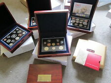 ROYAL MINT EXECUTIVE PROOF YEAR SETS IN WOODEN OR POP-UP CASES VIRIOUS YEARS