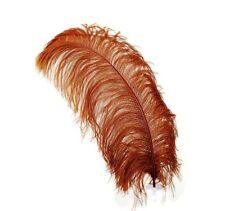 "1 BROWN Ostrich FEATHERS 23-28"" Full Wing PLUMES; Bridal/Wedding/Centerpiece"