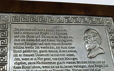 EID DES HIPPOKRATES Bildtafel 999 Silber Arztpraxis Dekoration Oath Hippocrates